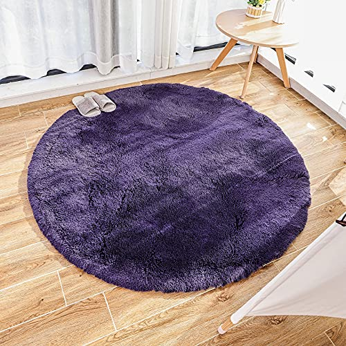 GaoTuo Alfombra de imitación de Piel de Cordero, Artificial Alfombra, excelente Piel sintética de Calidad Alfombra de Lana ,Adecuado para salón Dormitorio baño sofá Silla cojín (púrpura, 120 x 120cm)