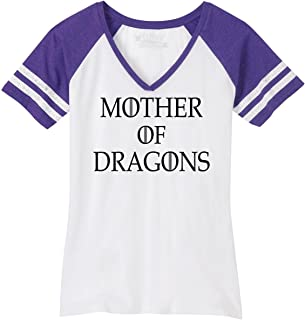 a3c6db3d Comical Shirt Ladies Mother Dragons T Shirt Thrones TV Show Gamer Game  V-Neck Tee