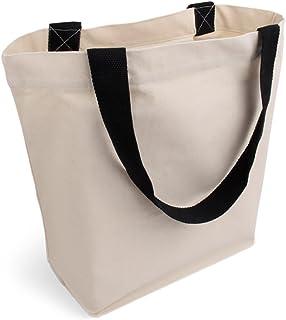 Cottonbagjoe - Sac de transport avec poche intérieure et fermeture éclair | Sac en coton | Sac en tissu | Sac de courses |...