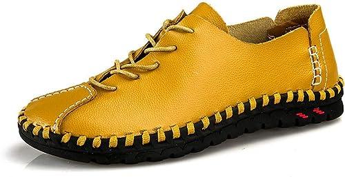 Hommes Hommes Hommes Sandales Mocassins Décontracté Chaussures en Cuir Pantoufles Mocassins Taille (Couleuré   Jaune, Taille   8=42 EU) 5b2