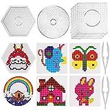 SAVITA Placa de plástico Transparente para Clavos de 5mm, Set de Beads Plantilla Grandes de 6...