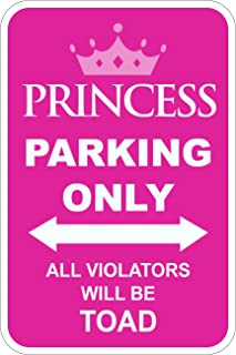 Municipal Supply and Sign Co. Princess Parking Only - 12 x 18 Parking Sign - 3M