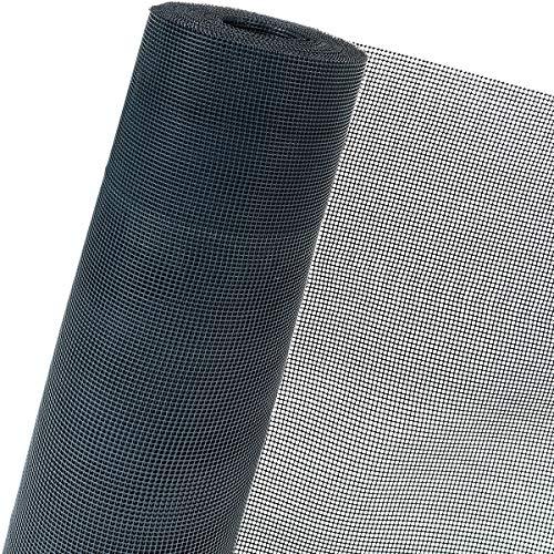 HaGa® Kunststoffzaun in 1,20m x 1m (Meterware) - UV-beständige Lärmschutzverstärkung - Zaun 330g/m² mit 7mm Maschenweite - Gartenzaun in schwarz