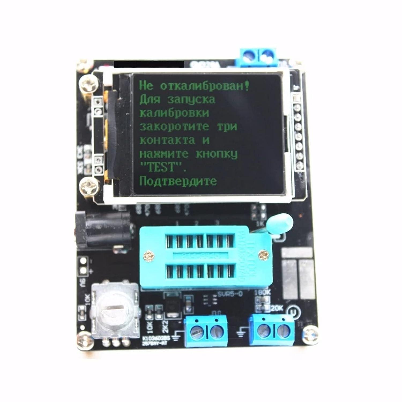 Probador de transistores multifunción probador,Para detección automática de transistores Npn y Pnp, Fet, diodos, diodo dual, tiristor, identificación automática del transistor Pinout