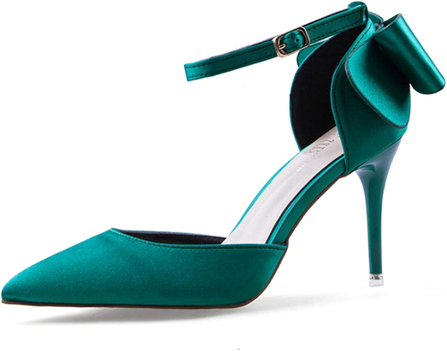 High Heels Ladies Sandals Thin Heels Appliques Red Sexy Female shoes Platform shoes,Green,37.5