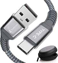 Tarkan USB 3.0 Nylon Braided Type-C to Type-A (5V 3A) 1.5 Meter Long and Fast Charging Data Cable for USB-C Smartphones (Grey)