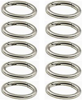 WEICHUAN 10PCS zinc Alloy Spring Clip Round Carabiner- 1
