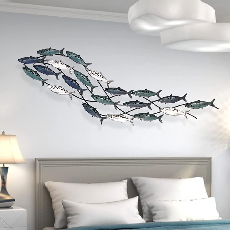 ANYURAN Metal Fish Ranking TOP11 Wall Decor M Aqua Sculpture Theme Max 55% OFF