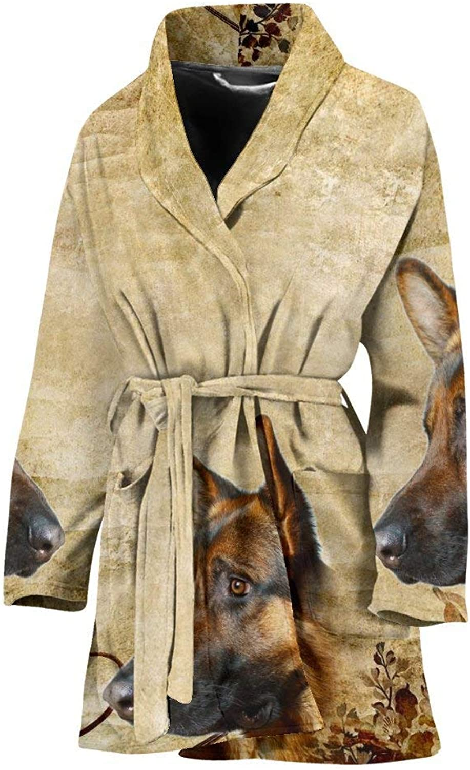 Amazing German Shepherd Print Women's Bath Robe