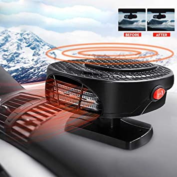 Maso 【Upgrade】 Portable Car Heater 12V 150W High Power in Car Heater Fast Heating Fan for Defrosting Automobile Windscreen & Keeping Warm: image