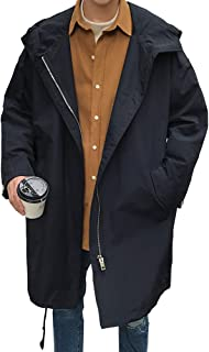 Cartoden 春コート スプリングコート ゆったり 薄手 お洒落 トレンチコート メンズ ロングコート ストリート系