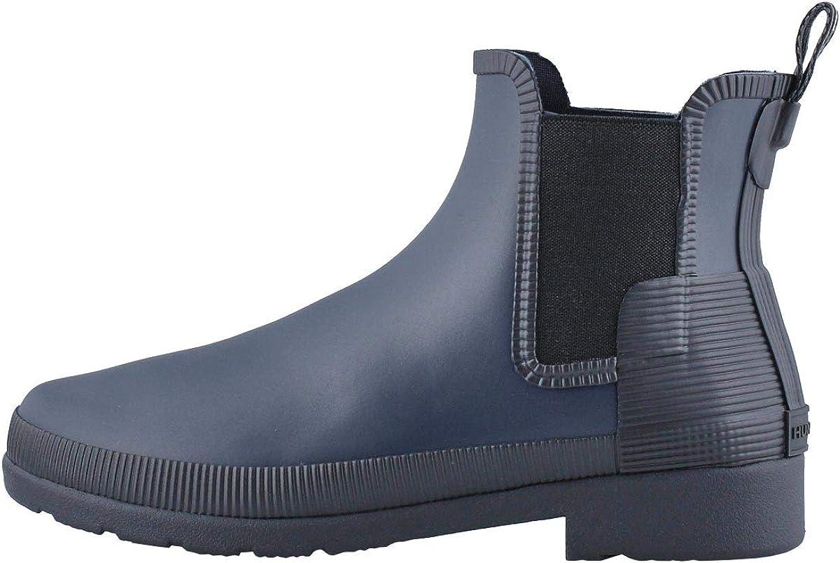 HUNTER Boot Women's Original Refined Texture Chelsea Rain Boot