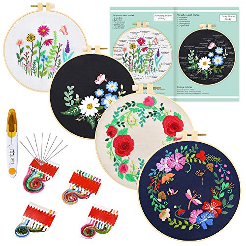 Image of Caydo 4 Sets Embroidery Kit...: Bestviewsreviews