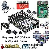 RetroPie ボックス スーパーパンドラボックス Rasperry Pi 4B (1G Ram) 贈14000 in 1 家庭ミニテレビゲーム機 HDMI出力 レトロゲーム サポートArcade/FC/SFC/MD/GBA/PS/N64/ NEOGEO用互換機