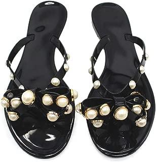 Best black bow flat sandals Reviews