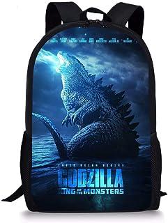 God-zilla Kids Backpack -Monster Book Bag Rucksack -Lightweight School Bags for Student Men Women