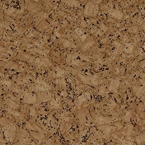 BODENMEISTER BM70618 Vinylboden PVC Bodenbelag Meterware 200/300 / 400 cm breit, Holzoptik Korkoptik