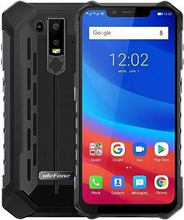 Ulefone Armor 6 スマートフォン 6GB RAM+128GB ROM IP68防水 6.2インチ Android 8.1 Helio P60 Otca-core 5000mAhバッテリー NFC Face ID グローバルバージョン (ブラック)