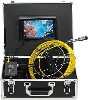 """Lixada 20M IP68 Impermeable Endoscopio Industrial Sistema de Inspección Boroscopio Cámara Serpiente 7"""" Monitor LCD 20M/30M"""