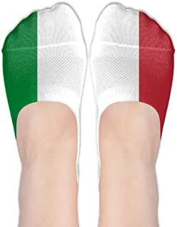 Italian Flag Coolest Womens Non Slip Boat Ankle Short Low Cut No Show Thin Socks for Yoga Train Hiking Cycling Running Sports Soccer