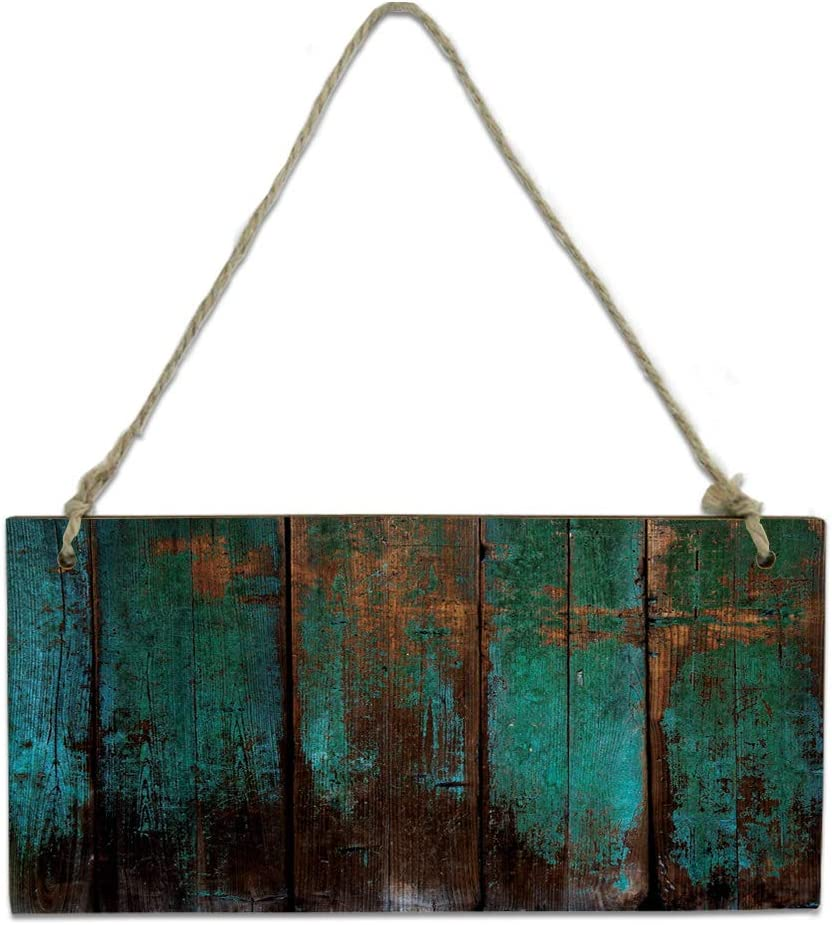 Wood Cash special price Plaque Wall Hanging Sign Vi for Bathroom Miami Mall Kitchen Grain