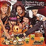 THE TWIDDLERS 61 teiliges Halloween Party Geschirr Set – geeignet für 15 Gäste – Partyset beinhaltet gruselige Becher, Teller, Servietten und eine Tischdecke! - 3
