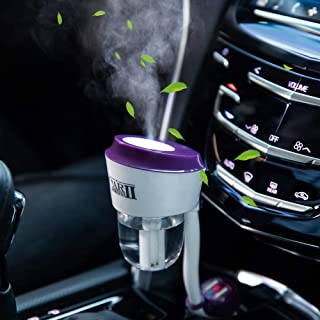Car Humidifier Essential Oil Diffuser, Car Oil Aroma Scents Small Diffuser with Dual USB Charger Adapter, Portable Auto Sh...