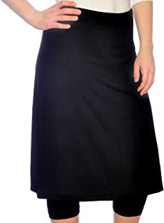 Kosher Casual Women's Knee Length Sports Skirt with Leggings - Mid-Weight Fabric