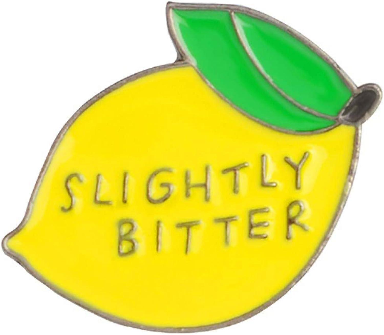 Brooch Pin, Cute Slightly Bitter Lemon Enamel Brooch Pin Gift For Women Girls Backpack Hat Bag Accessory Badge