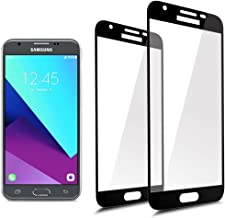 [2-Pack]Full Coverage Tempered Glass Screen Protector For Samsung Galaxy J3 Emerge /J3 Eclipse / J3 2017/ J3 Prime / J3 Mission /J3 Luna Pro with Lifetime Replacement Warranty[Black]
