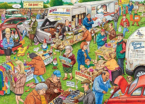The Car Boot Sale, Houten puzzel 1000 stukjes volwassen decompressie, kinderpuzzel, familiepuzzel 70x50cm
