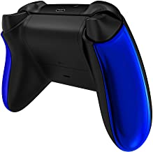 eXtremeRate Painéis traseiros azuis cromados para controle Xbox Series X/S, alças laterais antiderrapantes confortáveis, p...