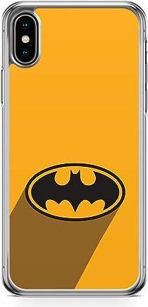 Batman Logo Phone Case iPhone XS Max Case Transparent edge Logo of Batman Movie Bruce Wayne Transparent edge iPhone XS Max Cover