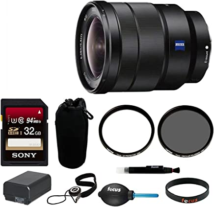 Sony SEL1635Z 16-35mm Vario-Tessar T FE F4 ZA OSS Full-Frame E-Mount Lens + 64GB Ultimate Filter /& Flash Photography Bundle