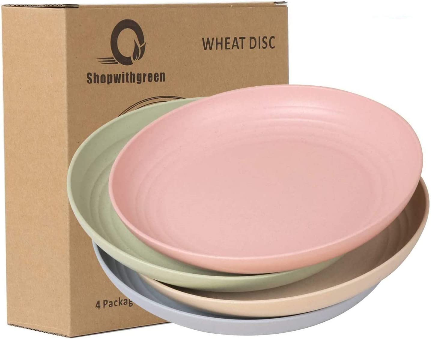 Shipping included shopwithgreen 10 Inch Wheat Straw Dinner Plates Unbreakabl Deep Over item handling ☆