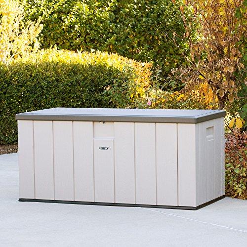 Lifetime 60254 Heavy-Duty Outdoor Storage Deck Box, 150 Gallon, Desert Sand/Brown
