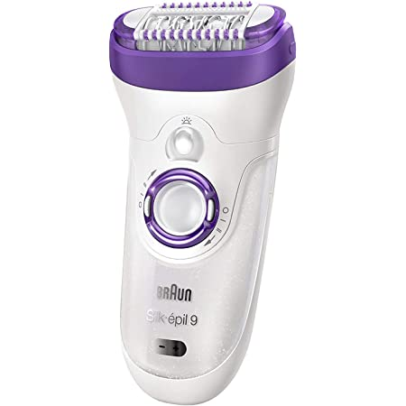 Braun Epilator Silk-epil 9 9-579, Facial Hair Removal for Women, Facial Cleansing Brush, Womens Shaver, Wet & Dry, Cordless and 7 extras