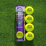 net world sports slazenger wimbledon - palline da tennis wimbledon, ultra visibili, 18 tubi, 6 dozzine