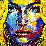 ORIGINAL UNIKAT Gemälde abstrakt modern Acryl Gesicht Leinwand Bild 972 Portrait