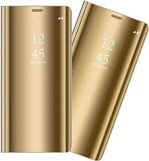 ZYZXQH - Funda para Samsung Galaxy A70 con espejo, piel sintética, a prueba de golpes, con tapa para teléfono móvil, diseñ...