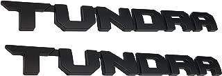 Matte Black Tundra Door Emblem Sticker Badges For 2013-2018 SR5 1974 TRD PRO, 2 Pack