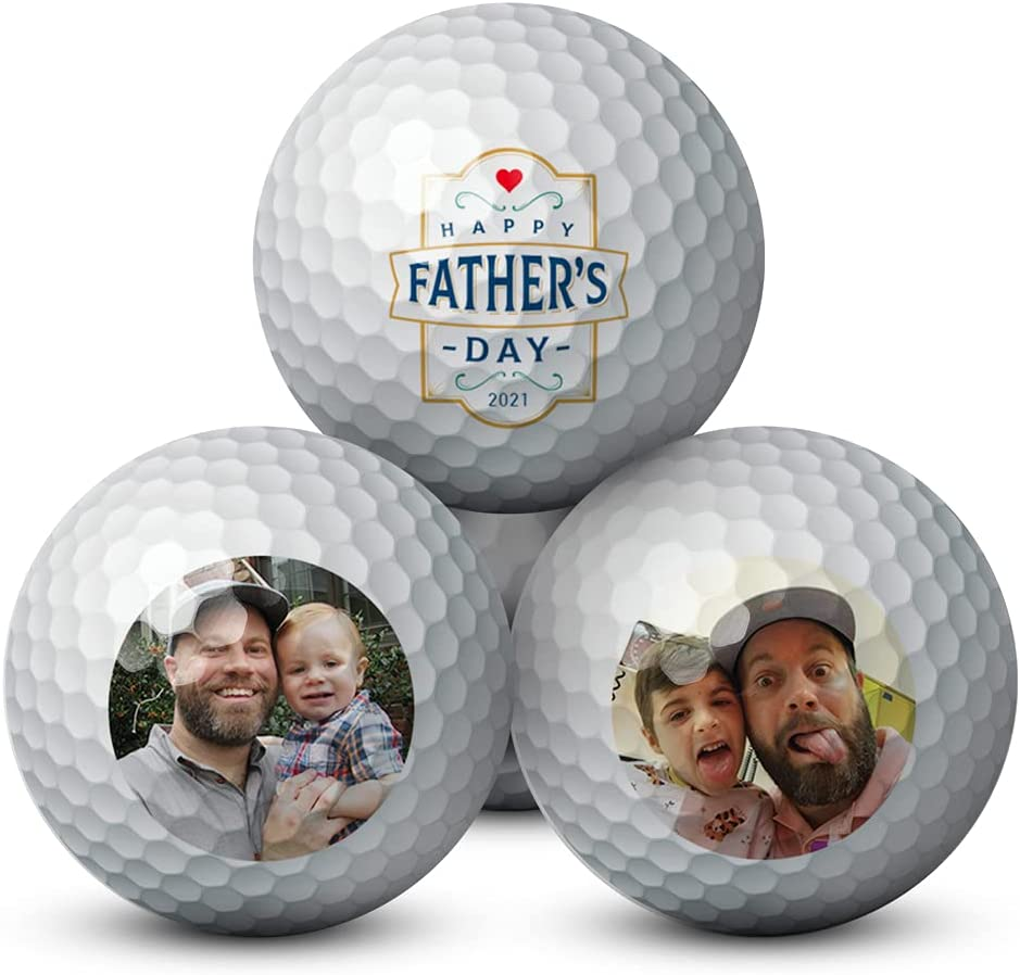Custom Ranking TOP4 Photo Father's Day Golf Pack Excellence Personalized wit Balls 3