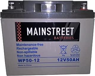Main Street WP50-12 Sealed AGM Battery 12V 50Ah