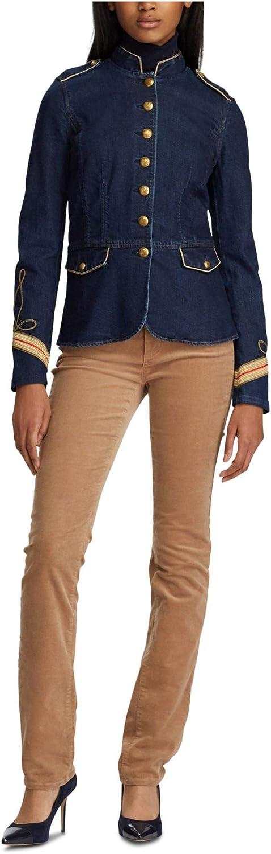 Lauren by Ralph Lauren Women's Jacket Military Denim Blue 6