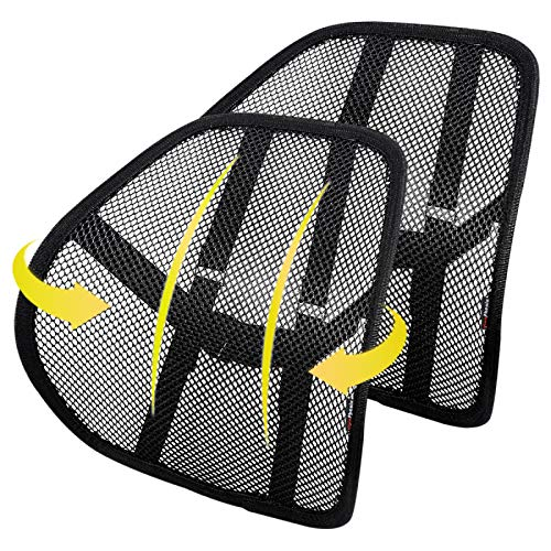 Lumbar Support (2 Pack) with Double-Layer Mesh, Mesh Back Support Cushion for Car Seat Office Chair...