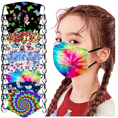 AOGOTO 10 Stück waschbare und Wiederverwendbare Kindermode niedlich bedrucktes Wind- und staubdichtes Schutztuch