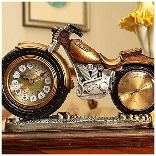 XIUXIU Atmospheric Creative Living Room Bedroom Mute Decorative Quartz Clock European Desk Clock (Color : Gold)