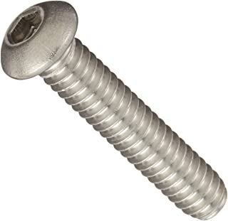 "18-8 Stainless Steel Socket Cap Screw, Plain Finish, Button Head, Internal Hex Drive, Meets ASME B18.3/ASTM F879, 3/4"" Len..."