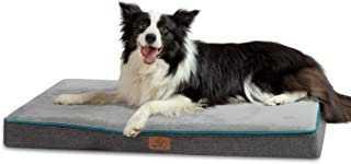 Bedsure Memory Foam Dog Bed for Small, Medium, Large Dogs & Cats - Orthopedic Dog Crate Mats Suitable for 28 inches/36 inches/42 inches Crates - Nonskid Bottom - Grey