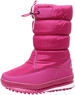 Women Winter Snow Boots, Ladies Solid Round Toe Thick Bottom Warm Cotton Booties Non-slip